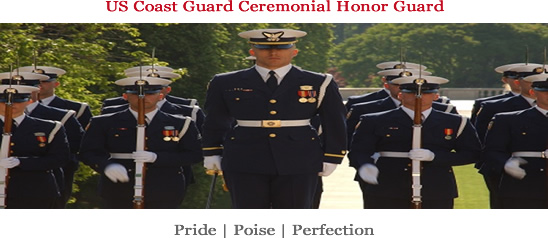 Image of Coast Guard honor guard.
