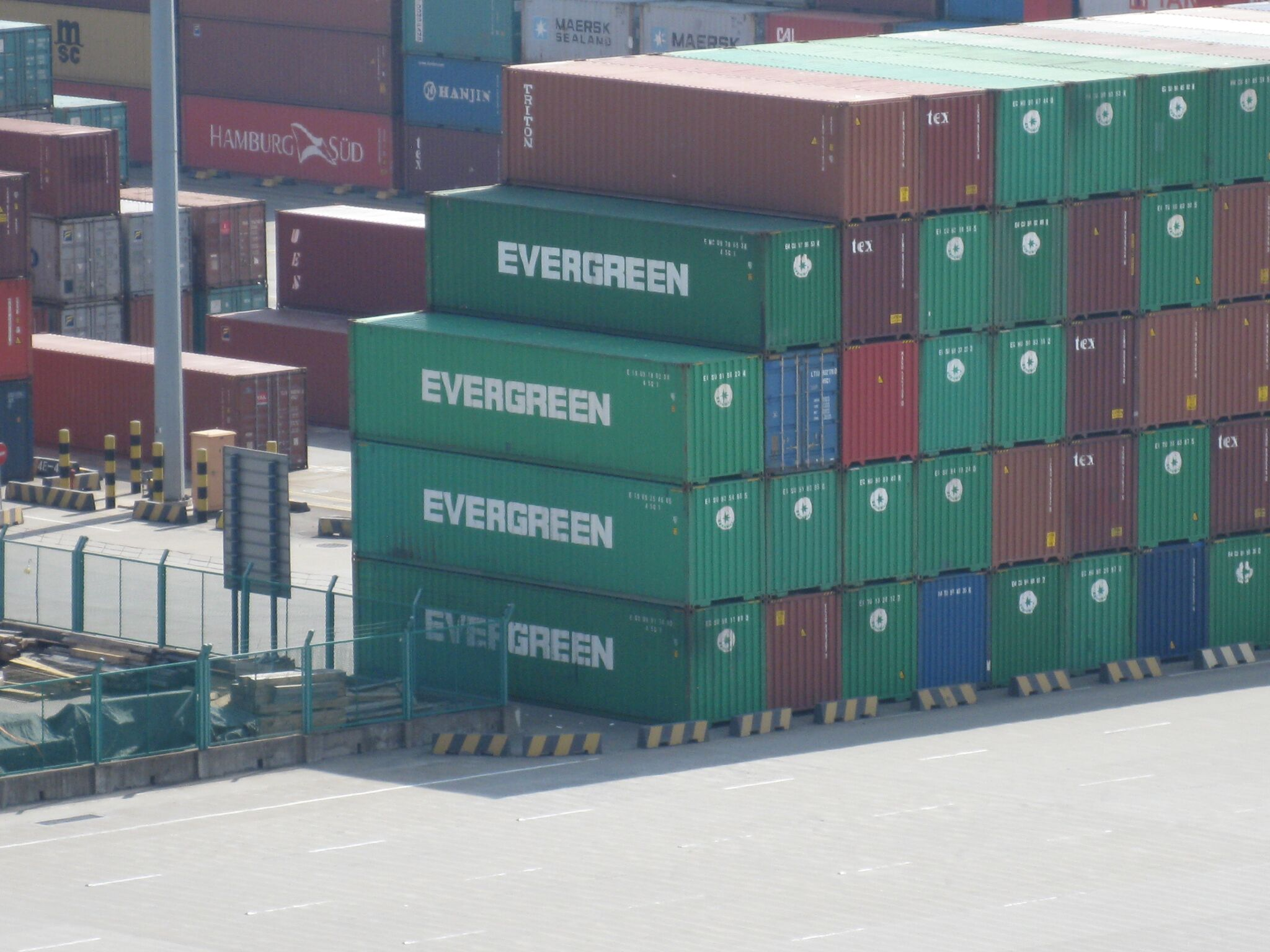 Evergreen shipping containers